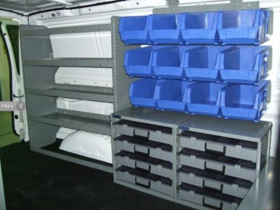 Adrian Steel cargo van bins and shelving