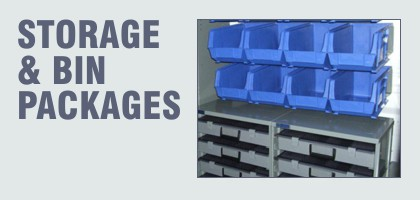 storage bins and packages for work vehicles